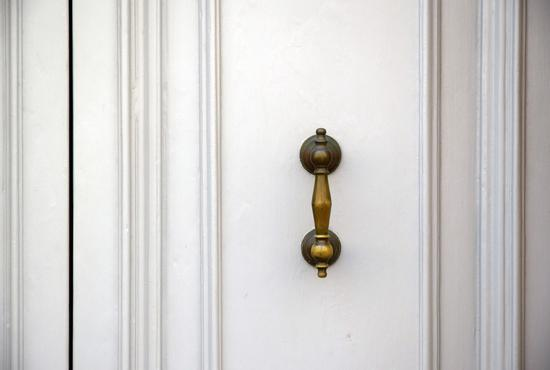 White Enamelled Painted Doors Turning Crème